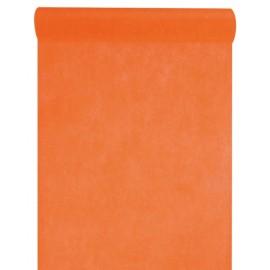 Chemin de table intissé orange 10 M x 60 cm