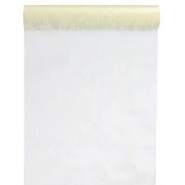 Chemin de table intissé ivoire 10 M x 60 cm