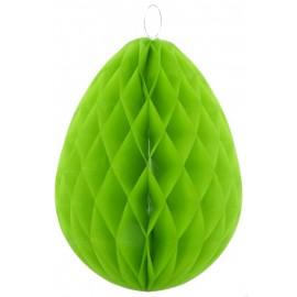 Oeuf vert anis en papier alvéolé 30 cm les 2