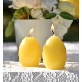 Bougie oeuf jaune 6.5 cm