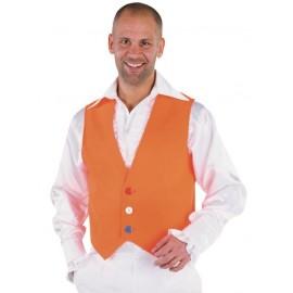 Déguisement gilet orange homme luxe