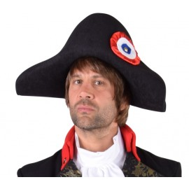 Chapeau Napoléon adulte luxe (bicorne de Napoléon)