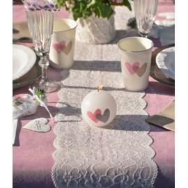 Chemin de table dentelle blanche premium 3 M