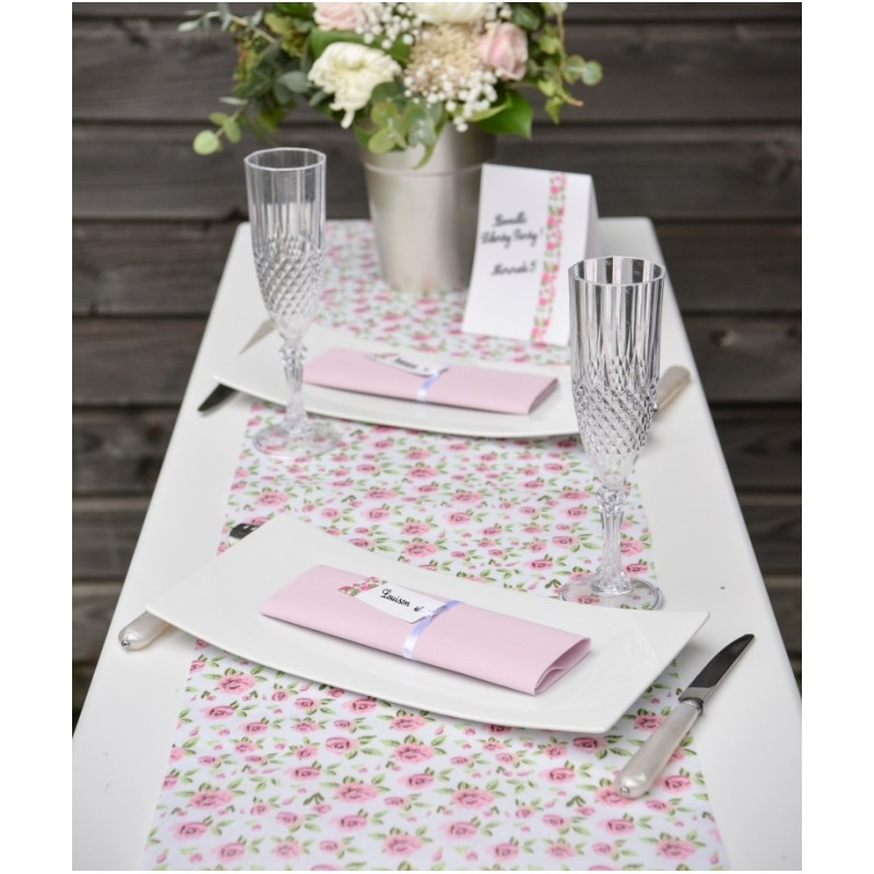 Chemin de table liberty shabby chic intiss 5 m chemins - Set de table intisse ...