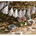 Guirlande pompons blancs en papier 140 cm