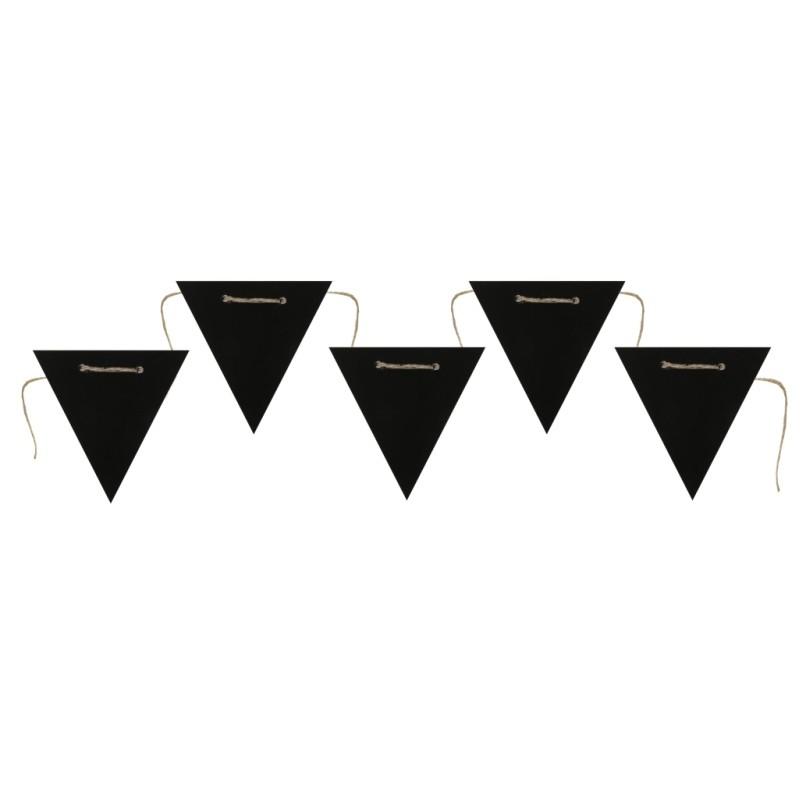 guirlande fanions ardoise noire 125 cm guirlande. Black Bedroom Furniture Sets. Home Design Ideas