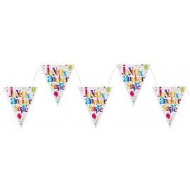 Guirlande fanions anniversaire festif 300 cm