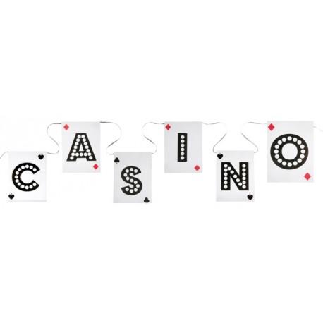 Guirlande fanion casino 500 cm