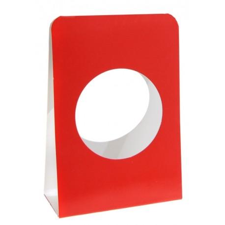 Portant boule à dragées 5 cm carton rouge les 6