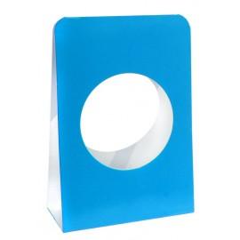 Portants boule à dragées 5 cm carton turquoise les 6