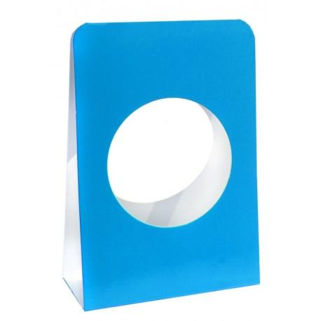 Portant boule à dragées 5 cm carton turquoise les 6