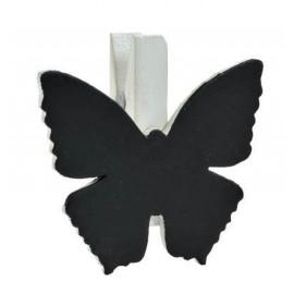 Ardoises papillon blanc sur pince déco les 6