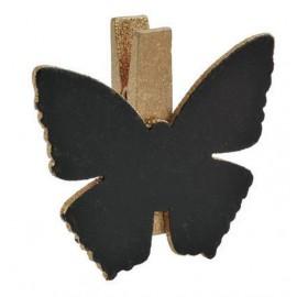 Ardoises papillon or sur pince déco les 6