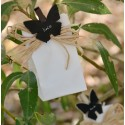 Ardoises papillon chocolat sur pince déco les 6