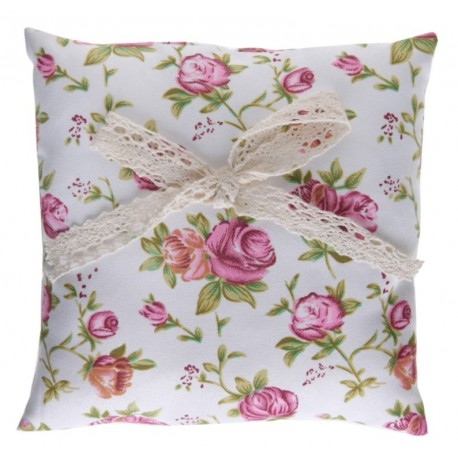 Coussin alliances liberty shabby chic