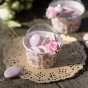 Boîtes à dragées cupcake liberty shabby chic les 6