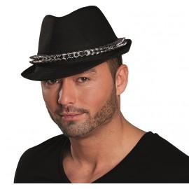 Chapeau borsalino noir avec pointes adulte
