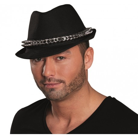 choisir officiel vraie affaire célèbre marque de designer Chapeau borsalino noir avec pointes adulte : achat Chapeaux borsalino Fedora
