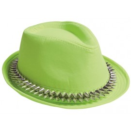 Chapeau borsalino vert anis avec pointes adulte