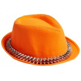Chapeau borsalino orange avec pointes adulte