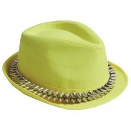 Chapeau borsalino jaune avec pointes adulte