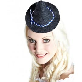 Mini chapeau bavarois gris femme