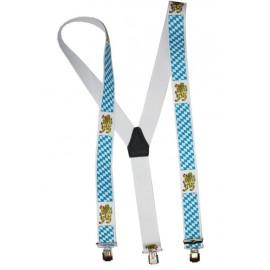 Bretelles bavaroises à losanges bleus et blancs adulte