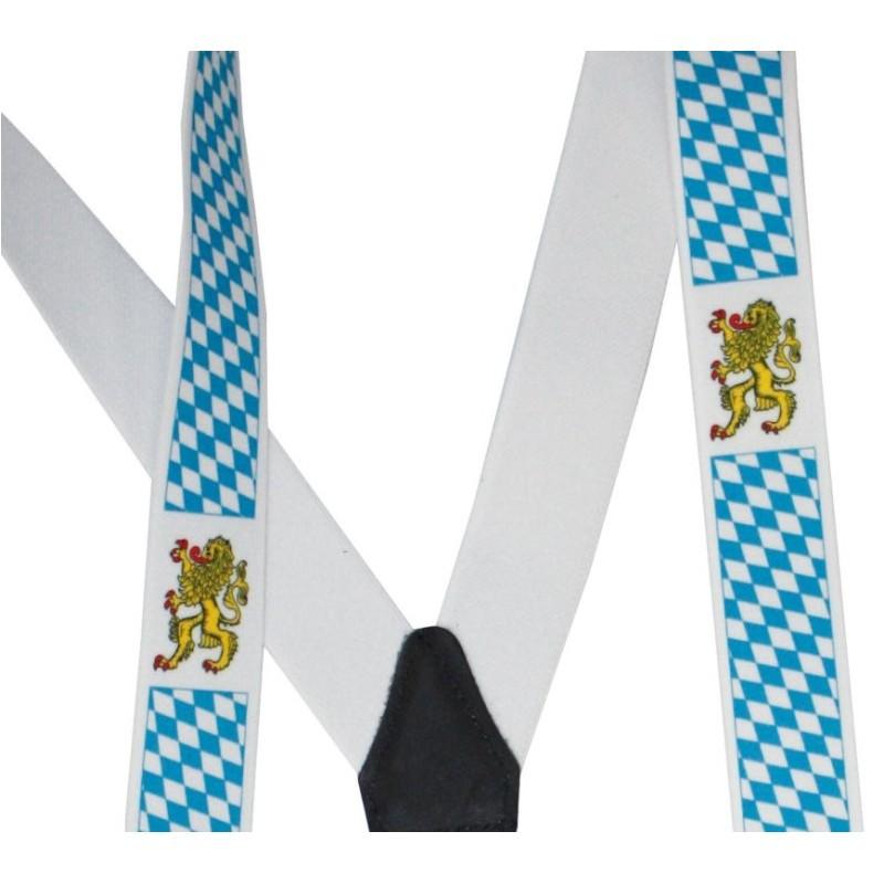 8b43c266a73d6 Bretelles bavaroises à losanges bleus et blancs adulte   accessoires