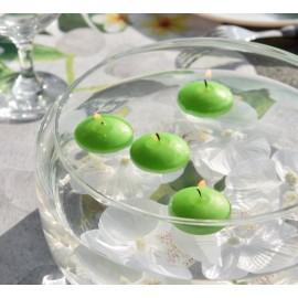 Bougies flottantes vert anis les 4