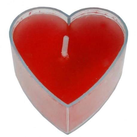 Bougie chauffe plat coeur rouge les 4