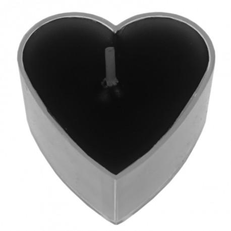 Bougie chauffe plat coeur noir les 4