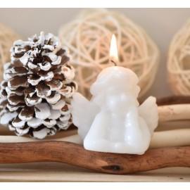 Bougie ange blanc 7 cm