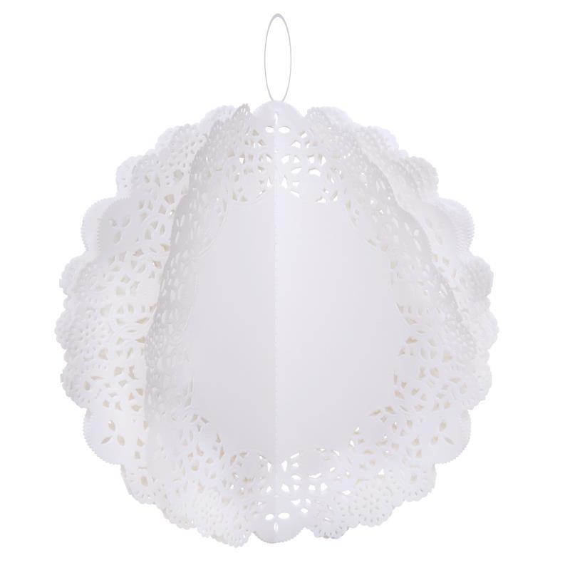 boule dentelle papier blanc les 2 boules papier d co f tes. Black Bedroom Furniture Sets. Home Design Ideas