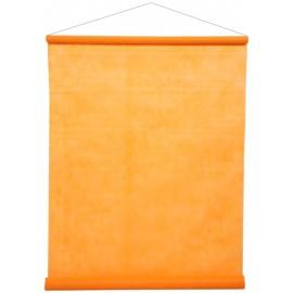 Tenture de salle fluo orange intissé 12 M