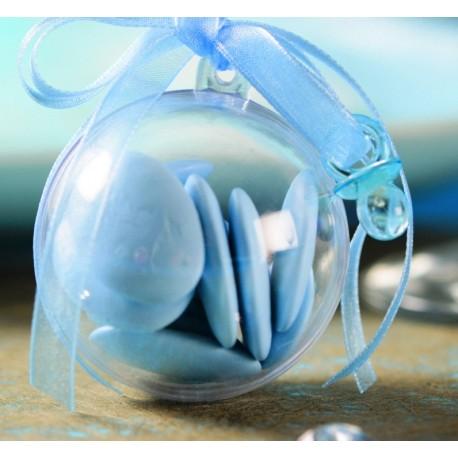 Mini tétine déco turquoise transparentes 2 cm les 12
