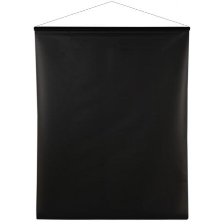 Tenture de salle brillant-mat noir 12 M