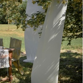 Tenture de salle brillant-mat ivoire 12 M
