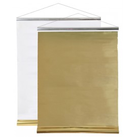 Tenture de salle bicolore or et argent 12 M