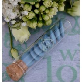 Eprouvettes à dragées vintage with love menthe en verre 10 cm les 4