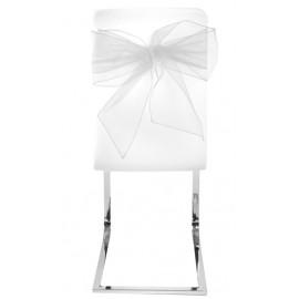 Noeud de chaise blanc en organdi les 4
