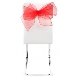 Noeuds de chaise en organdi rouge les 4