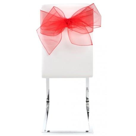 Noeud de chaise en organdi rouge les 4