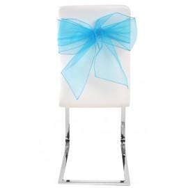 Noeuds de chaise en organdi turquoise les 4