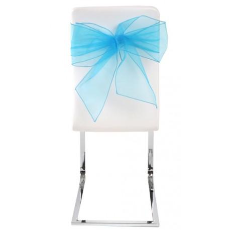 Noeud de chaise en organdi turquoise les 4
