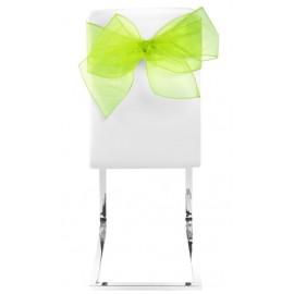 Noeuds de chaise en organdi vert anis les 4
