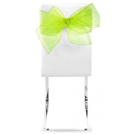 Noeud de chaise en organdi vert anis les 4