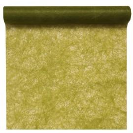Chemin de table fanon vert olive 5 M