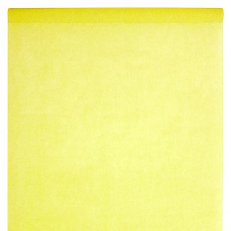 Nappe en intissé jaune - rouleau de 120 cm x 10 M
