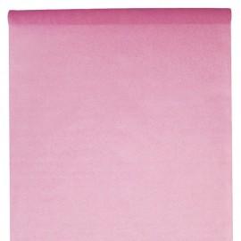 Nappe en intissé rose - rouleau de 120 cm x 10 M