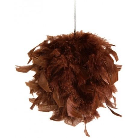 Boule de plumes chocolat 10 cm